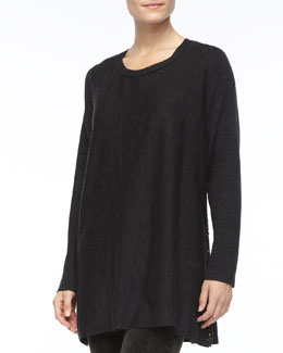 Eileen Fisher Long-Sleeve Jersey Top, Petite