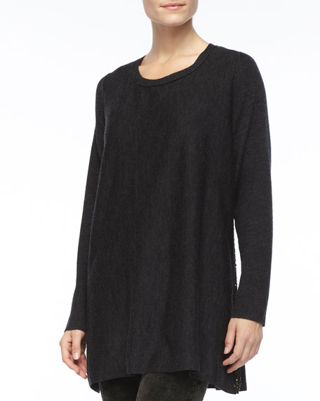 Long-Sleeve Jersey Top, Petite