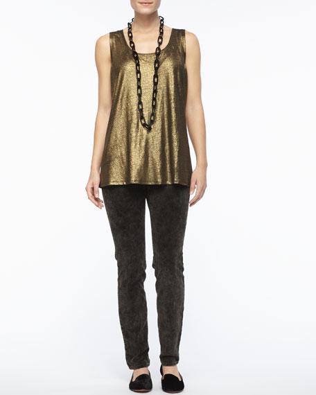 Bronze Velveteen Skinny Jeans