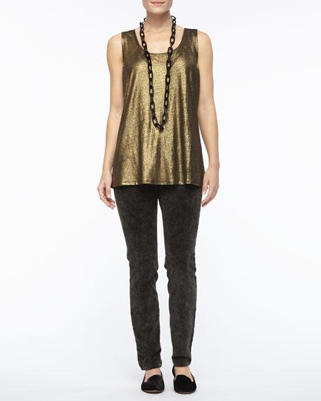 Bronze Velveteen Skinny Jeans, Women's