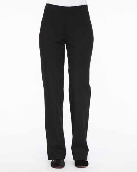 Straight-Leg Ponte Pants