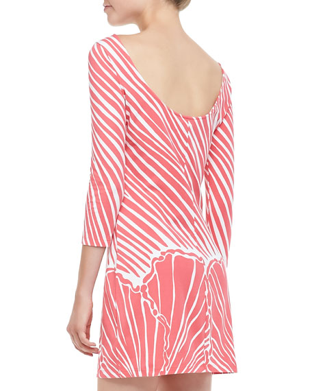 Topanga Shell-Print Mini-Dress