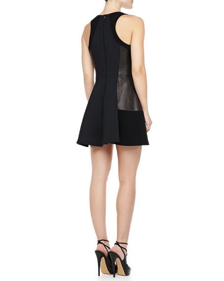 Montrose Leather-Panel Dress