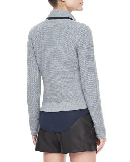 Adrienne Knit Biker Jacket