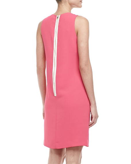 Folded Sleeveless Crepe Dress