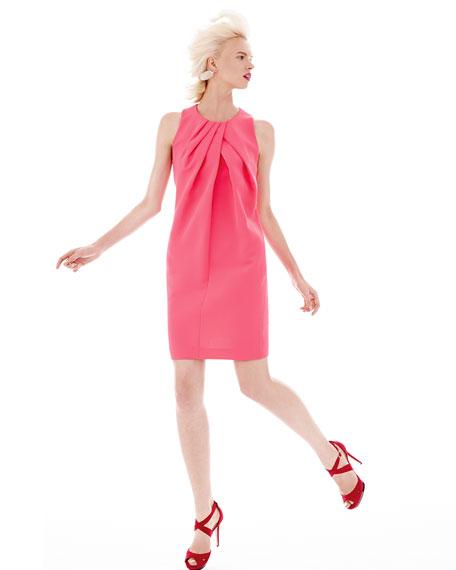 Folded Sleeveless Crepe Dress