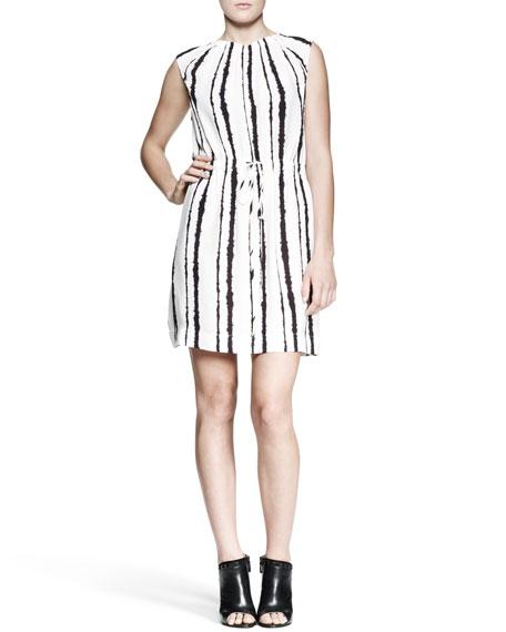 Roxanne Bleeding-Stripe Dress