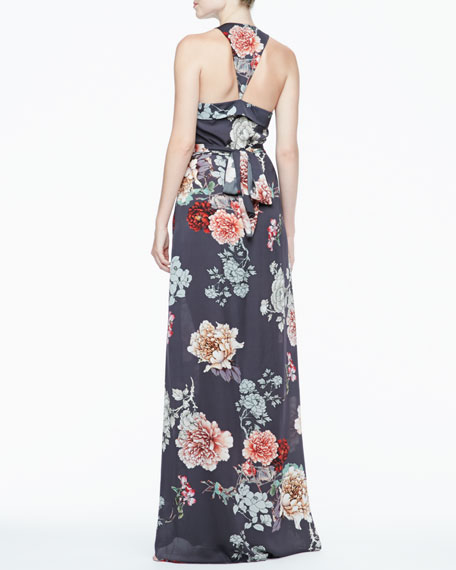 Ruffle-Front Maxi Dress
