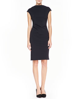 Ivy & Blu Cowl-Neck Sheath Dress, Black