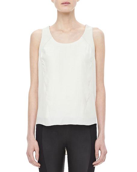Jade Silk Shirttail Top