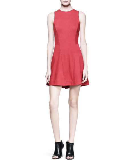 Geneva Sleeveless Textured Dress