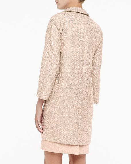 renata long tweed coat