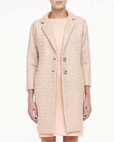 renata long tweed coat