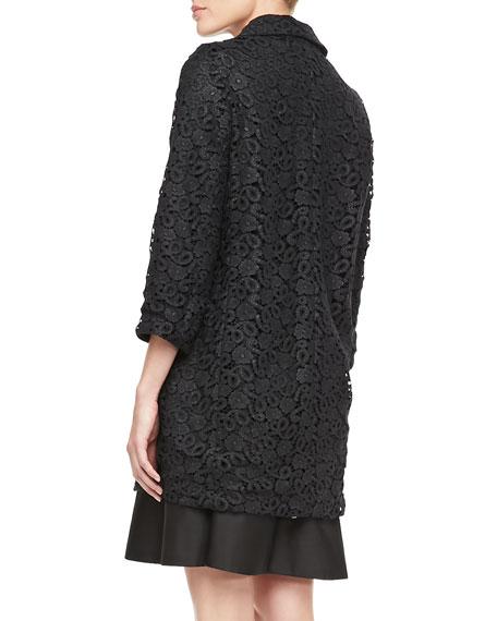 franny 3/4-sleeve lace coat