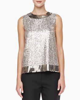 kate spade new york serene sleeveless sequined top
