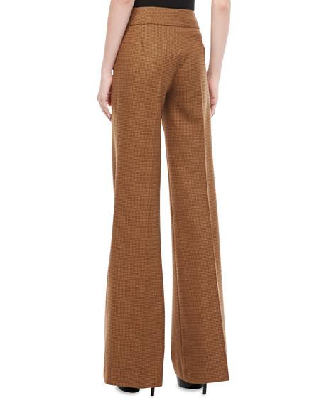Jaryn Check Stretch-Wool Pants