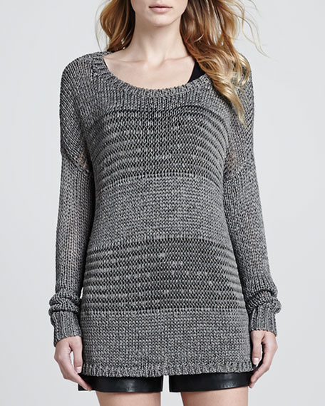 Knit Scoop Neck Sweater