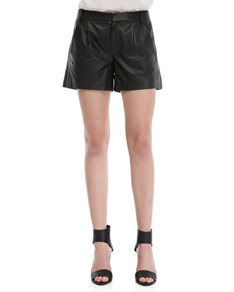 Lamb Leather Shorts