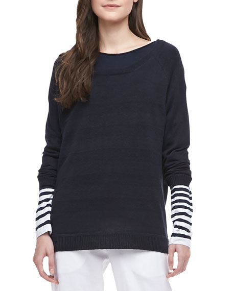 Striped Intarsia Sweater