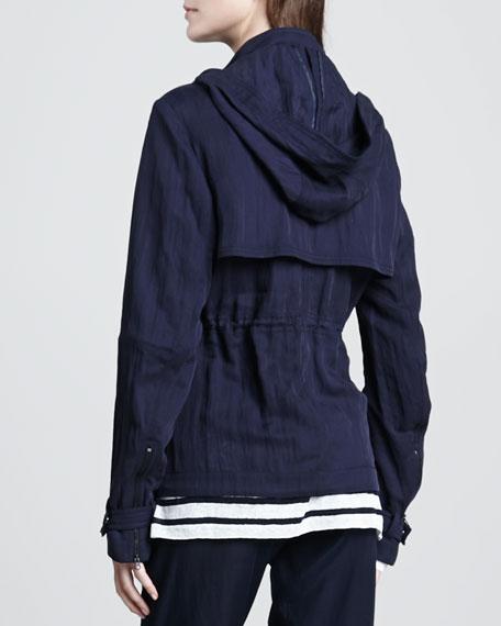 Luxe Hooded Short Anorak, Coastal