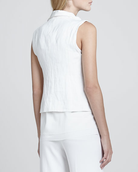 Asymmetric Sleeveless Vest