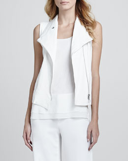 Vince Asymmetric Sleeveless Vest