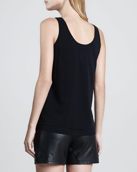 Double Layer Silk Tank, Black