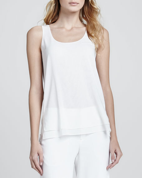 Double Layer Silk Tank, Lace