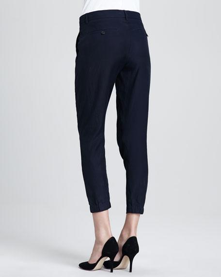 Straight-Leg Cuffed Trousers