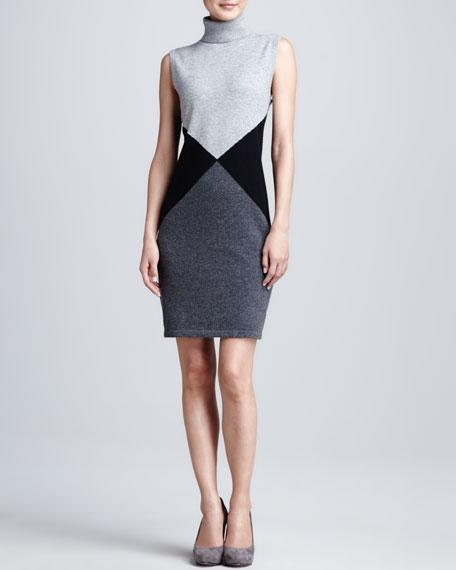Geometric Printed Cashmere Dress