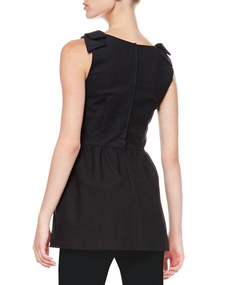 Sleeveless Bow-Shoulder Tunic