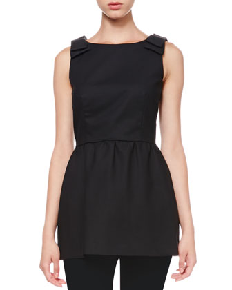 Sleeveless Bow-Shoulder Tunic