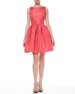 RED Valentino Full Bow-Shoulder Dress