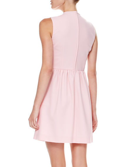 Bow-Front Crepe Dress