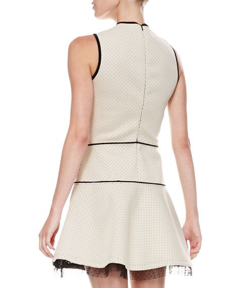 Sleeveless Dotted Neoprene Dress