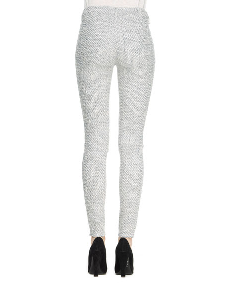 Textured Jacquard Skinny Pants