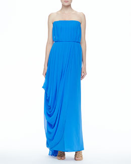 Alice + Olivia Waldorf Strapless Maxi Dress