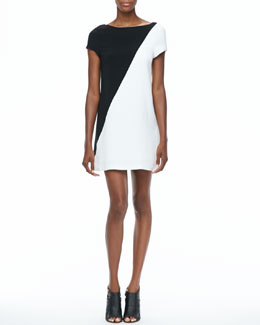 Alice + Olivia Serina Two-Tone Dress