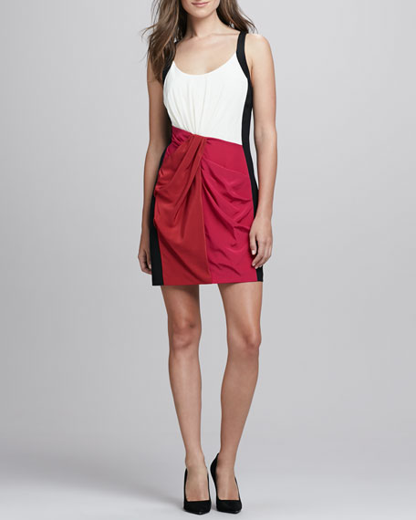 Joshua Draped Colorblock Dress
