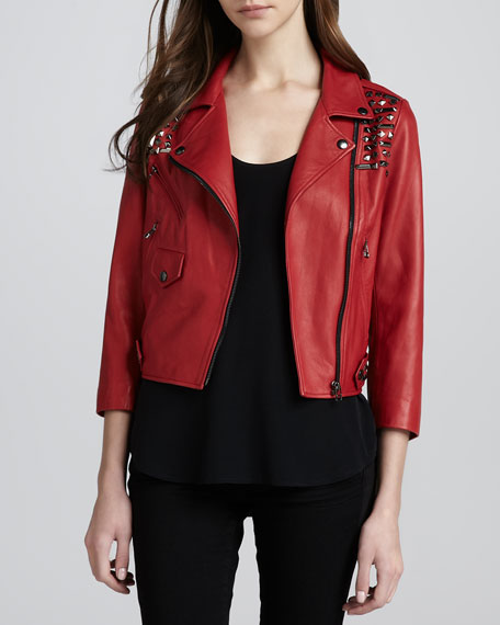 Wes Studded Motorcycle Jacket