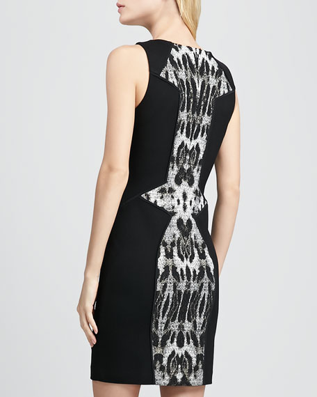 Moulin Printed-Inset Dress