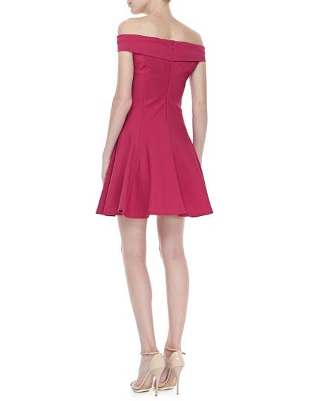 Off-The-Shoulder Ponte Dress