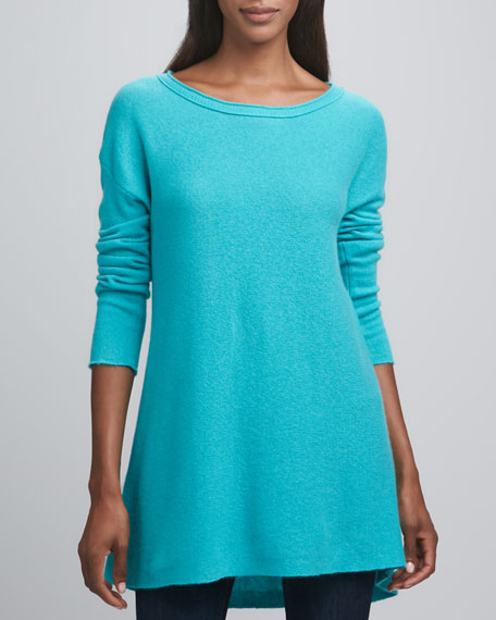 Hi-Low Long Cashmere Tunic