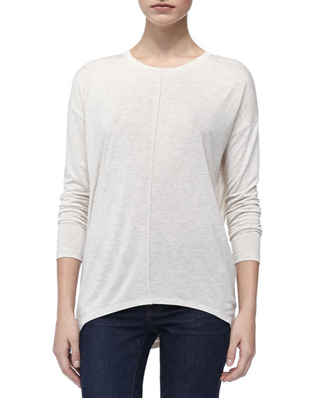 Long-Sleeve Slub Tee, Snow