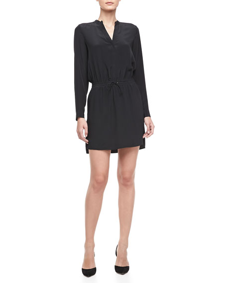 Drawstring Shirttail Dress