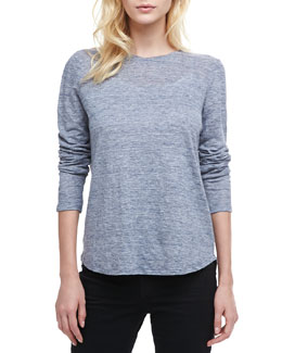 Vince Loose Long-Sleeve Tee, Blue