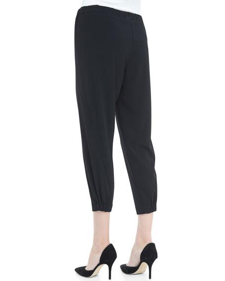 Wrap-Seam Cropped Pants