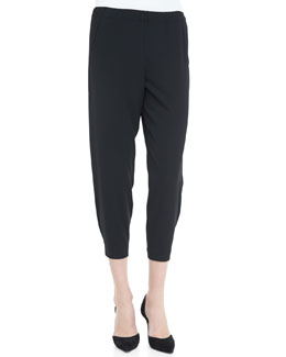 Vince Wrap-Seam Cropped Pants