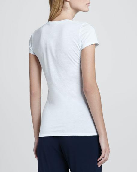 Short-Sleeve Jersey Tee, Aqua