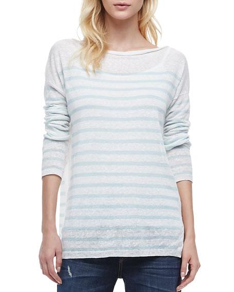 Striped Lightweight Knit Sweater